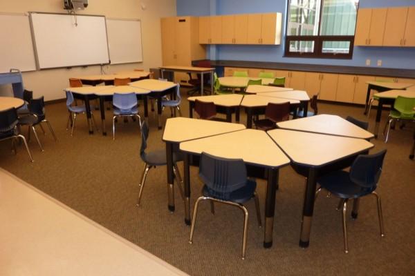 расположение мебели в классе
