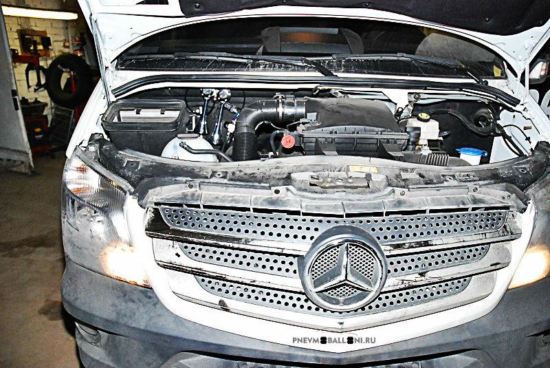 Mercedes Sprinter с пневматическим сигналом