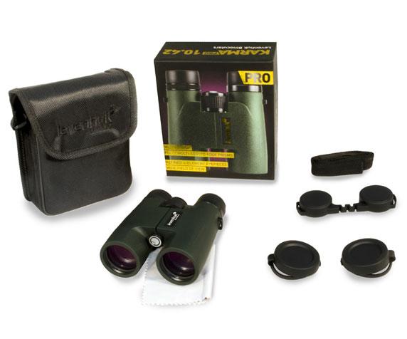 Бинокль Levenhuk Karma Pro 10x42: комплект поставки