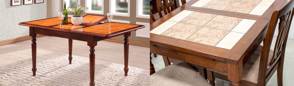У нас есть красивые и качественные столы с плиткой из Малайзии!