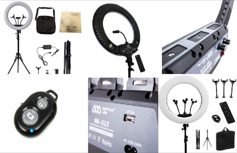 Светодиодная кольцевая лампа Ring Fill Light 26 см со штативом для профессиональной съемки