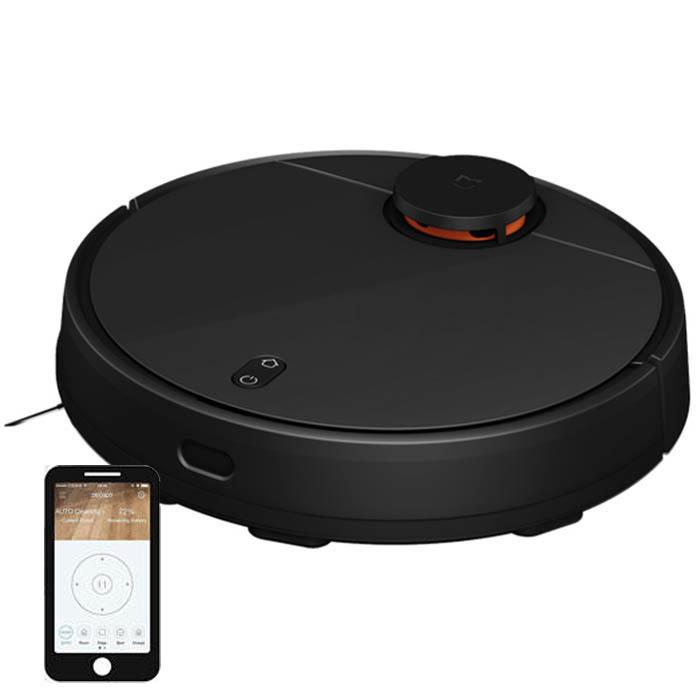 Робот-пылесос Xiaomi Mijia LDS Vacuum Cleaner (черный) управление со смартфона