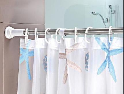 прочная штанга для шторы в ванную