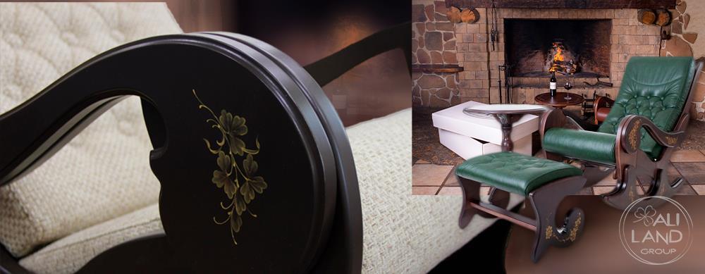 Кресла-качалки из дерева в прованском стиле