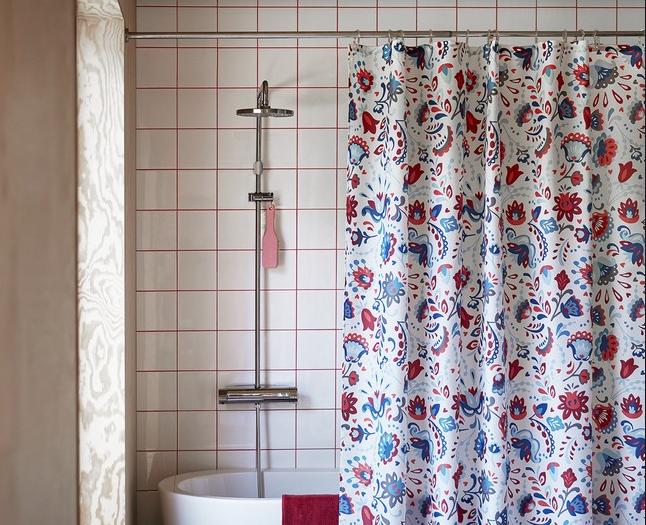 красивые шторы для ванны
