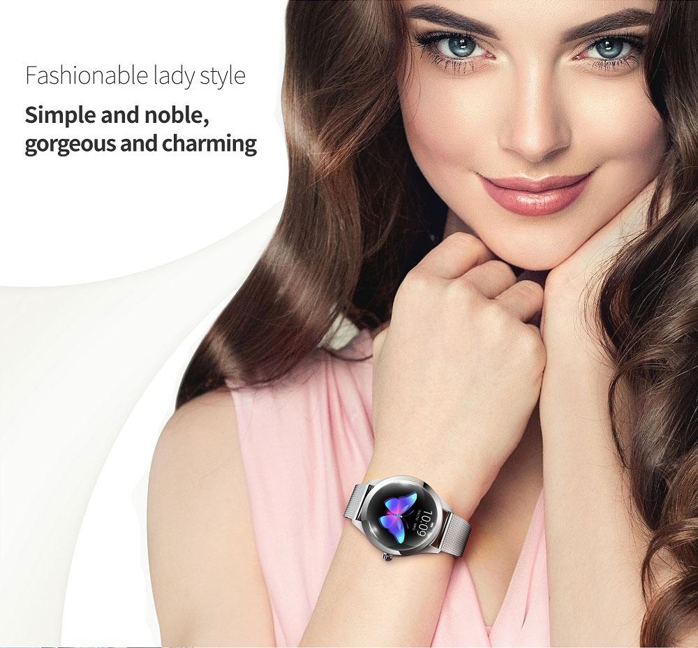 Женские умные смарт часы SmartWatch Kingwear KW10