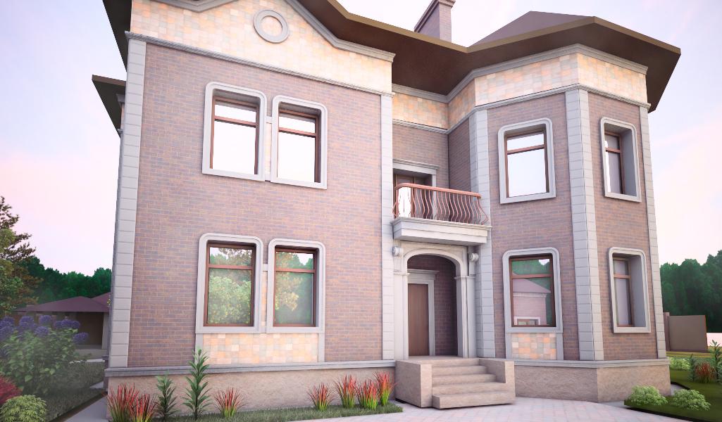 Дом с рустом