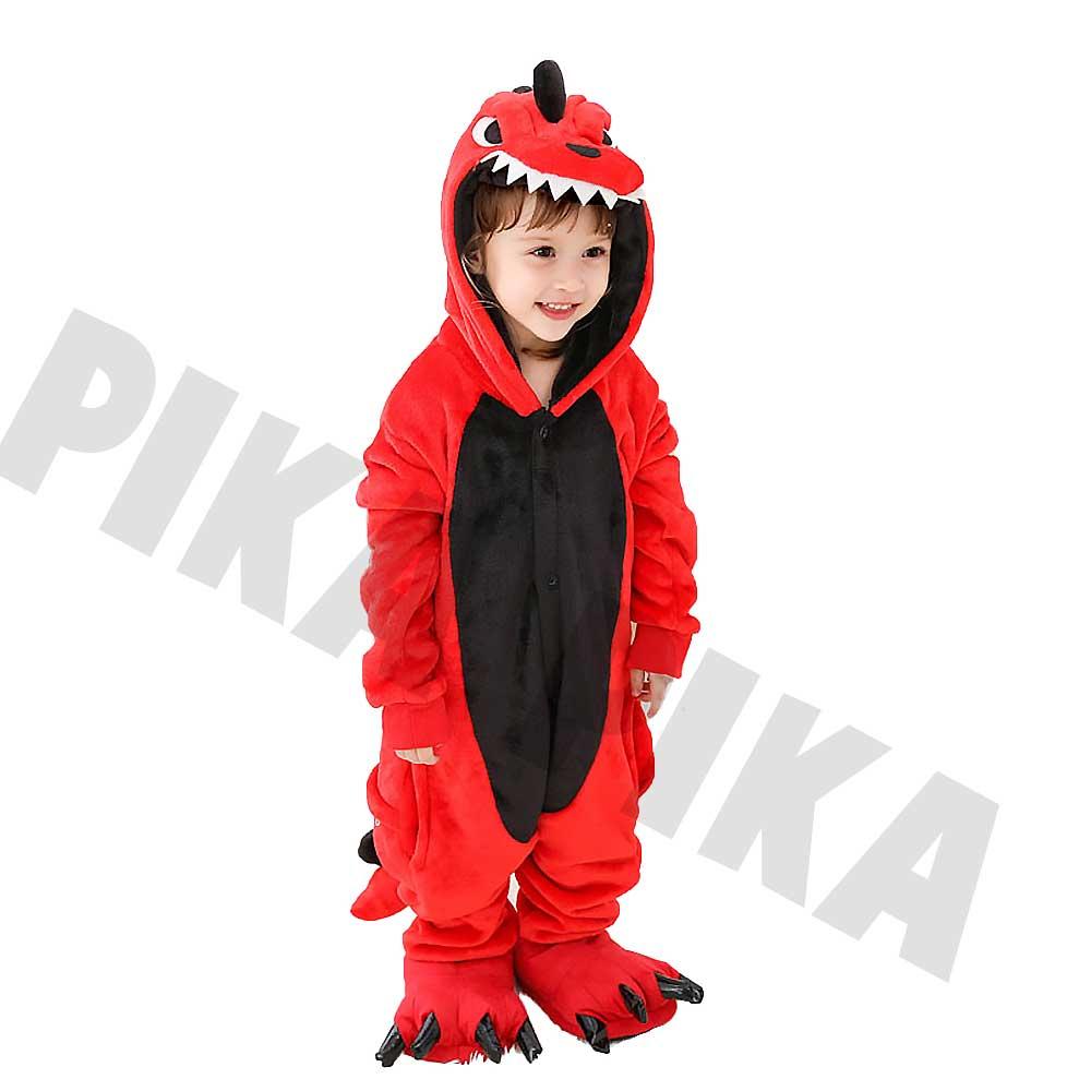 кигуруми красный динозавр