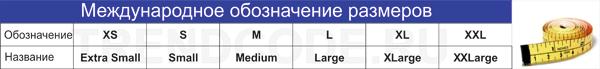Таблица международных обозначений размеров мужского белья