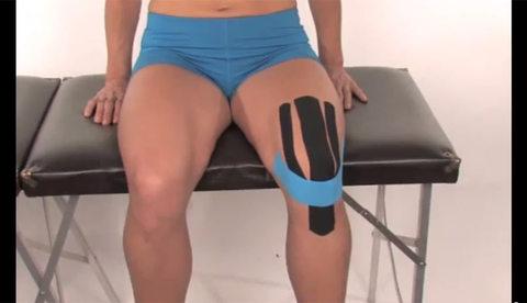 Как приклеить набор Kinesio Precut для колена