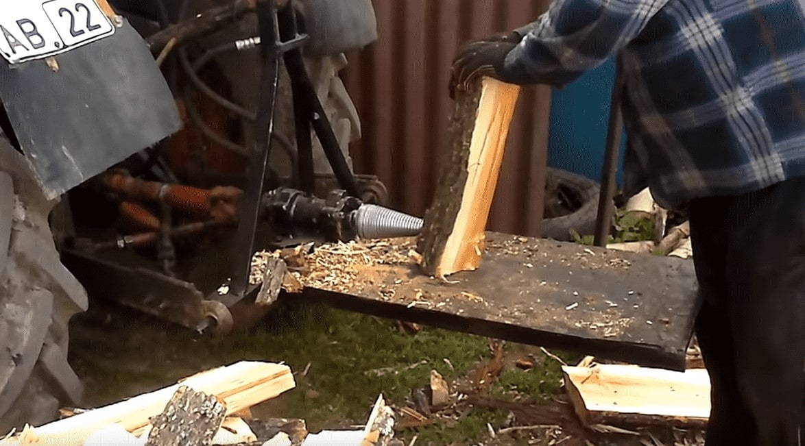 Дровокол трактор видео