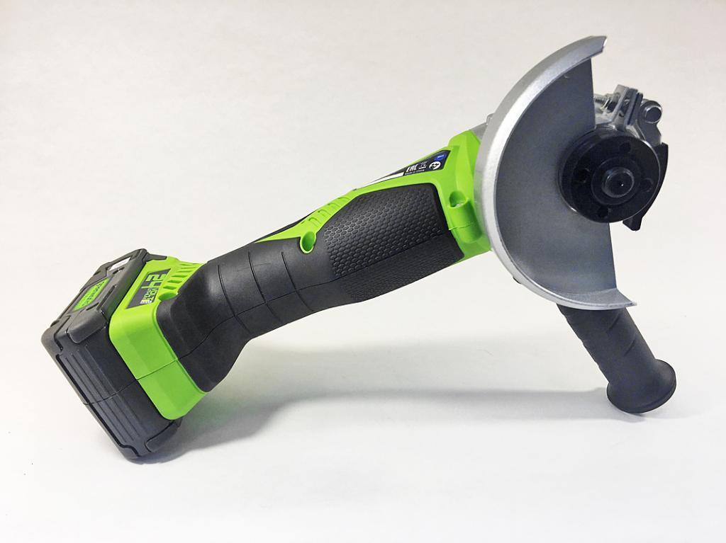 Угловая шлифмашинка Greenworks G24AG: обзор модели