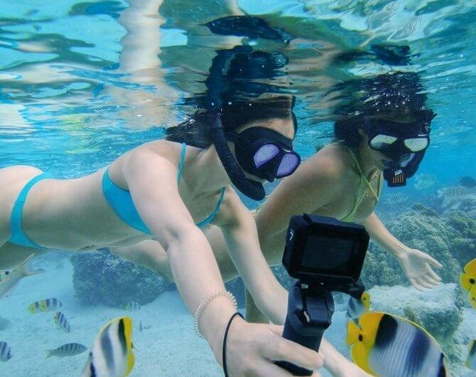 Как снимать под водой без искажений цвета