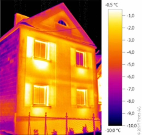 Тепловизионное обследование при помощи тепловизора