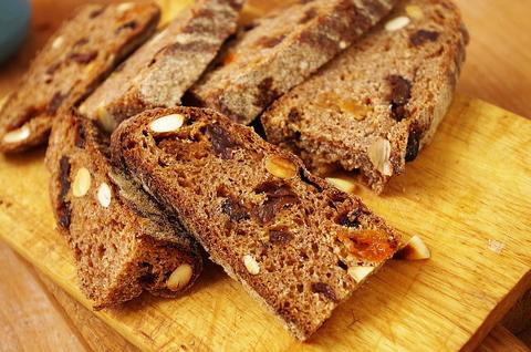 Десертный цельнозерновой хлеб на закваске в духовке