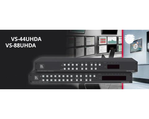 Мощные высококачественные матричные коммутаторы видео- и аудиосигналов VS-44UHDA (4х4) и VS-88UHDA (8х8) от KRAMER ELECTRONICS