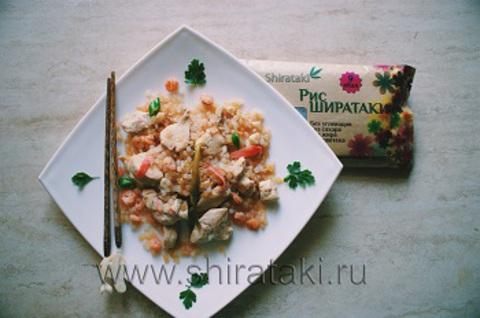 Рис ширатаки по-восточному