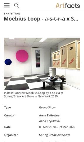 Moebius Loop - a-s-t-r-a х Spring/Break Art Show NY20