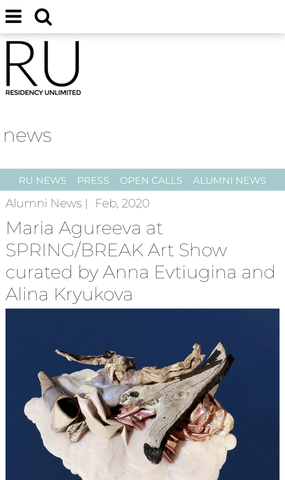 Maria Agureeva at SPRING/BREAK Art Show curated by Anna Evtiugina and Alina Kryukova
