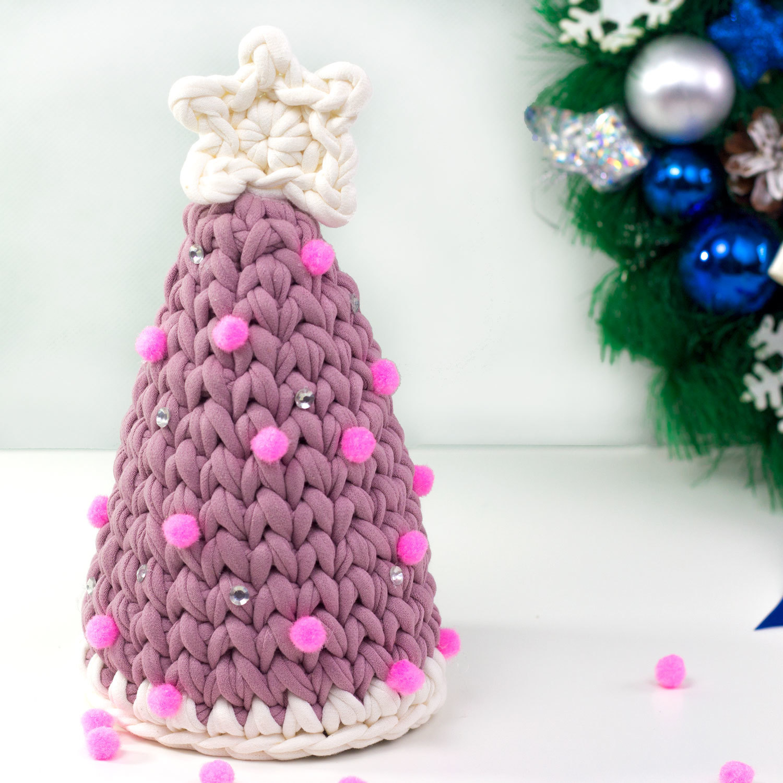 Мастер-класс по вязанию Новогодней елочки.