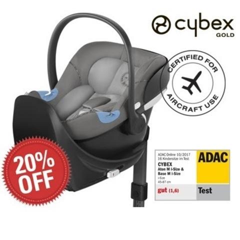 Акция при покупке комплекта Cybex Aton M i-Size + Base