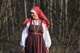 Выкройка русской женской рубахи под сарафан