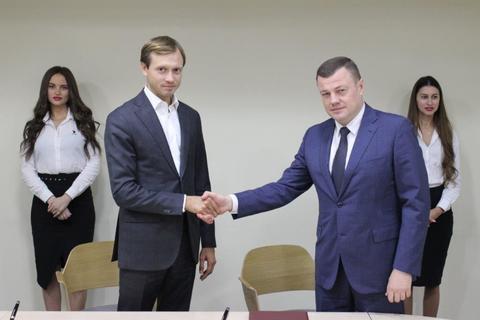 Подписание соглашения с Тамбовской областью