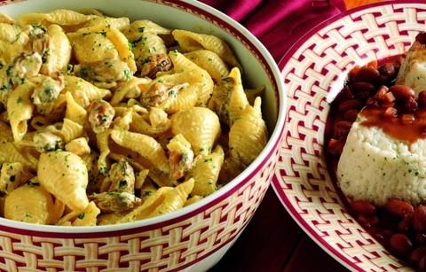 Паста с курицей и мидиями - Conchiglie con pollo e cozze