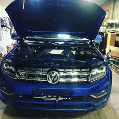 Скрытая установка лебедки на автомобиль VW Amarok