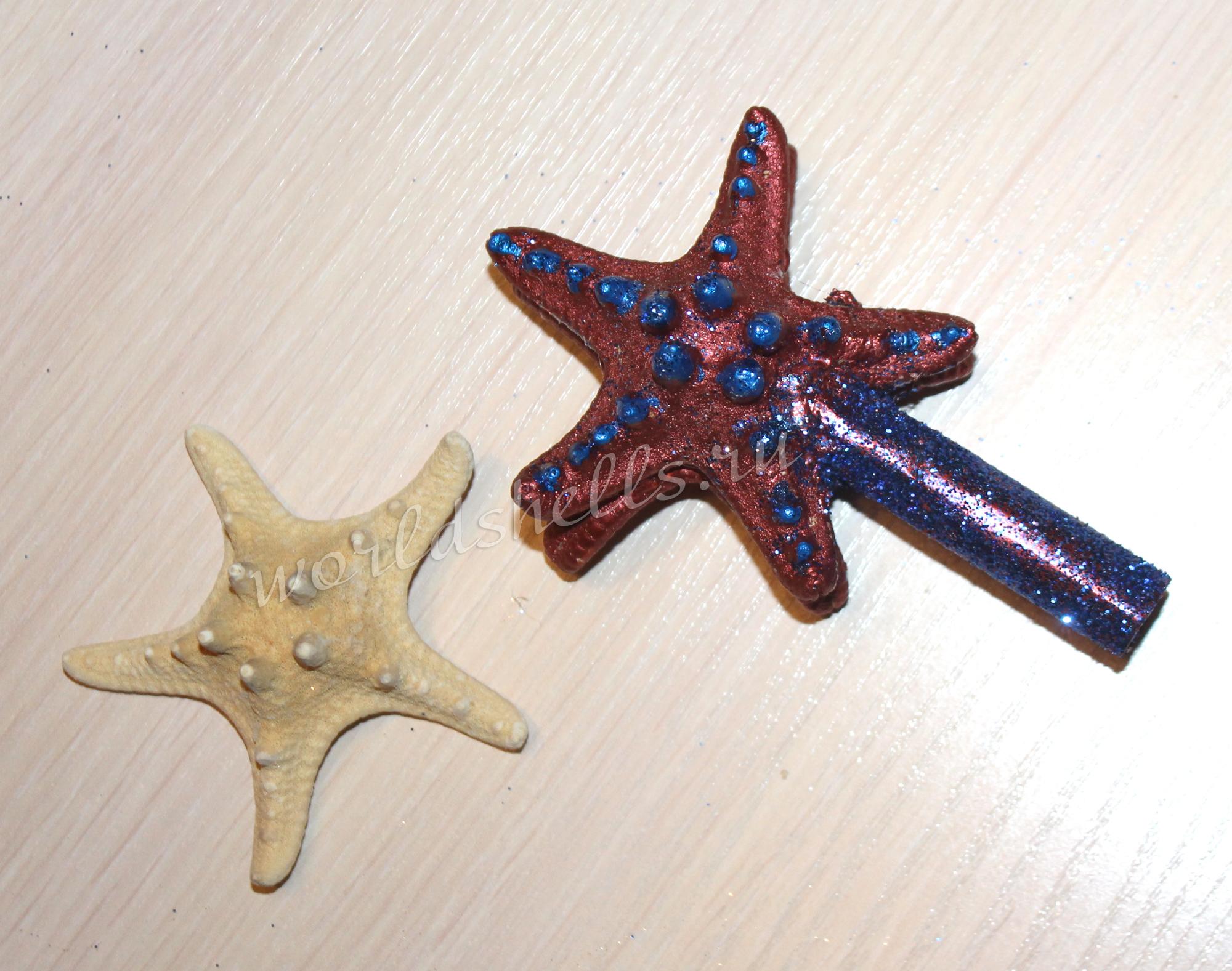 Верхушка на Рождественскую и новогоднюю елку из морских звезд