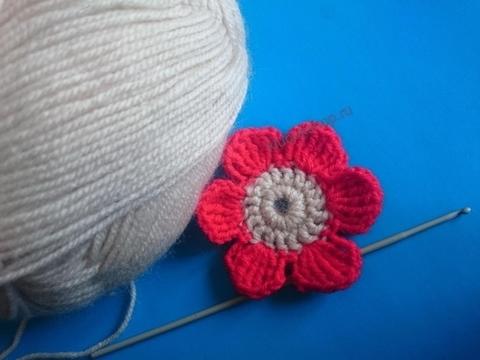 Вязание цветка крючком - мастер-класс