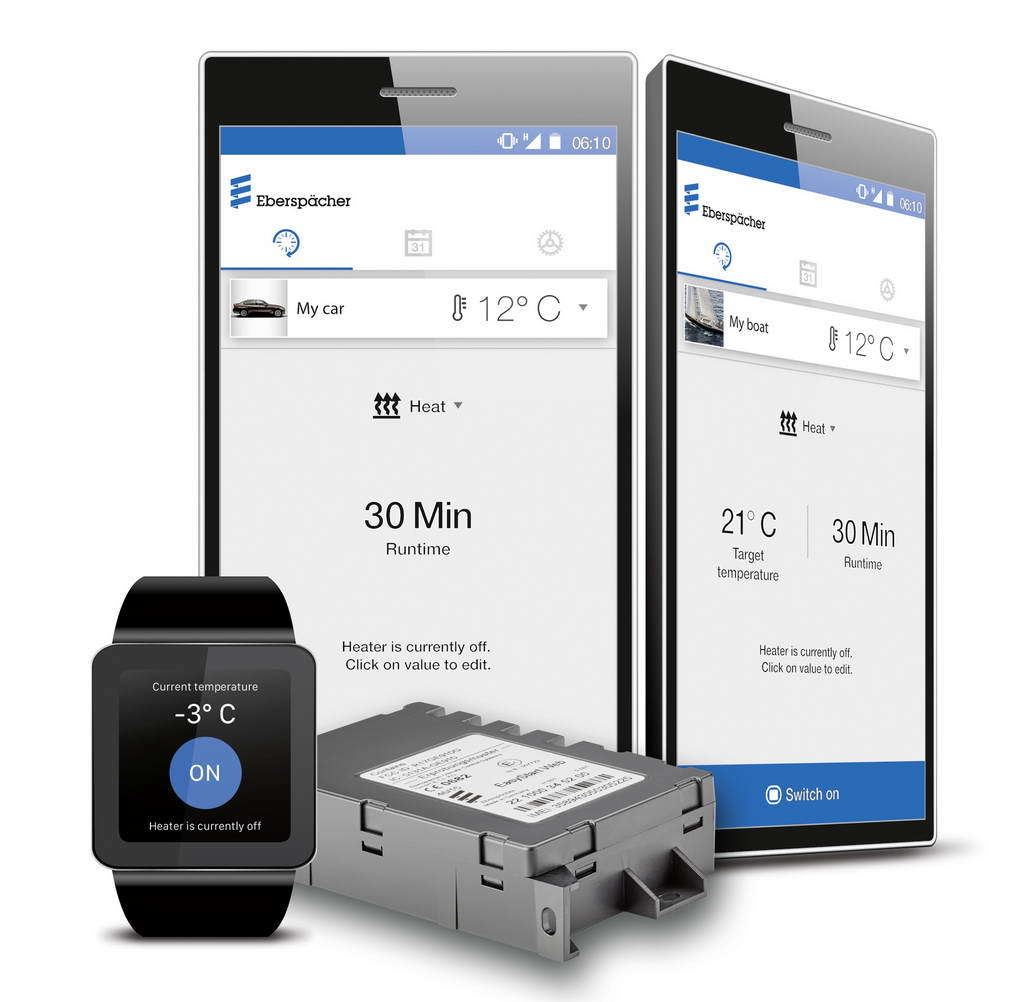 Eberspaecher pre-heaters – digital heating by smartphone and smartwatch