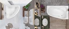 Угловые и асимметричные ванны: в чем разница?