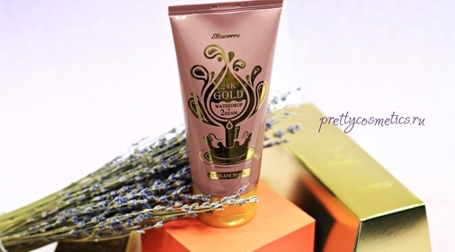 Омоложение с ароматом лимонного пирога от Elizavecca 24K Gold Cream Mask
