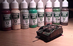 Униформа экипажа танка красками Vallejo Panzer Aces