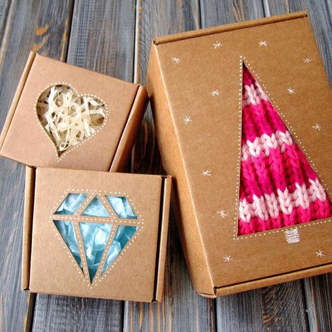 ОКОШКО в крышке - декор коробки