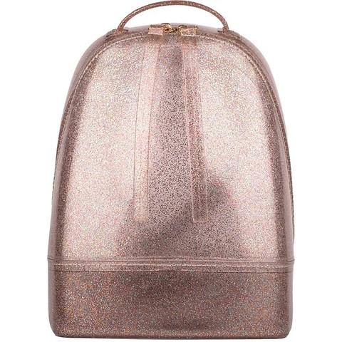 Новинки весны – рюкзаки из силикона с блестками.