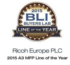Ricoh получила самую престижную награду BLI – «Выбор года 2015: лучшая линейка МФУ формата А3»