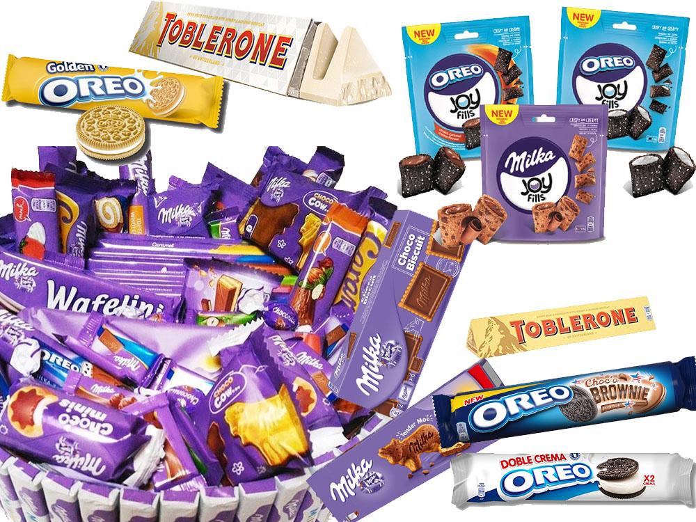 К нам приехал большой ассортимент печений и шоколада Milka, Oreo, Toblerone.
