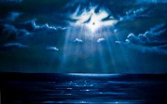 Урок аэрографии:  текстура ночной воды