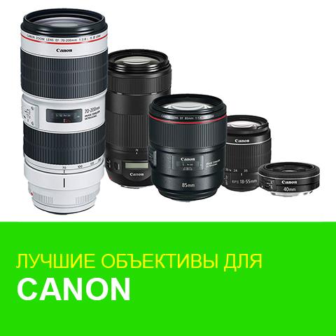 Лучшие объективы для полноформатных камер Canon