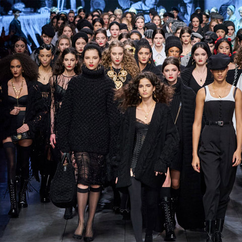 Модный черный  от Dolce & Gabbana