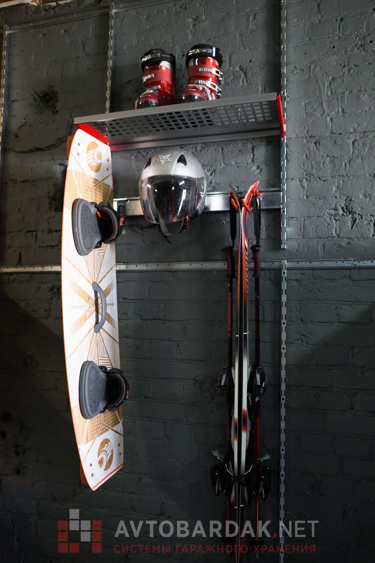 Модульная система хранения IF с полками и креплениями для спорт инвентаря