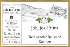 Вино недели с 15 мая - Joh.Jos.Prum Bernkasteler Badstube Riesling Kabinett 2016