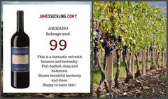 Argiano Solengo получило 99 баллов от Джеймса Саклинга