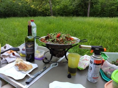 Сервировка блюда на садже