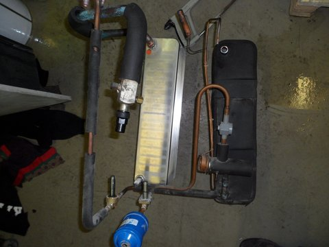 Замена теплообменника, запуск установки