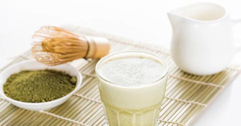 Матча Латте на миндальном молоке