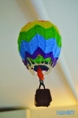 Как создать красочный воздушный шар 3D ручкой без трафарета?