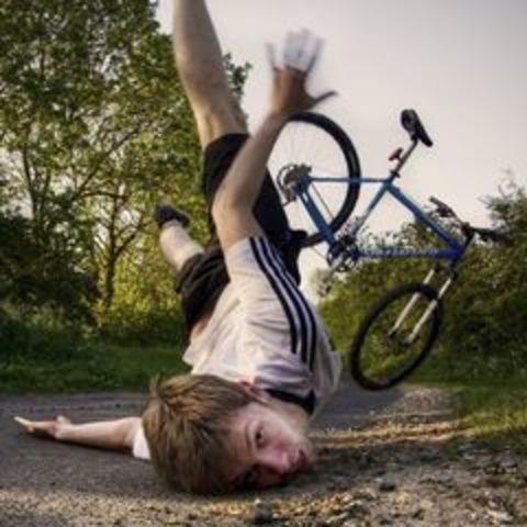 Как перестать падать на горном велосипеде